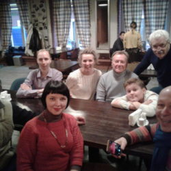 С Шакуровым и группой